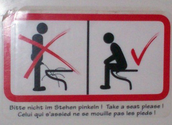 How To Pee & Other Insane Signs That Teach You To Use The Bathroom (PHOTOS)