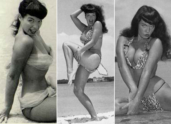 Curvy women bikini photographs