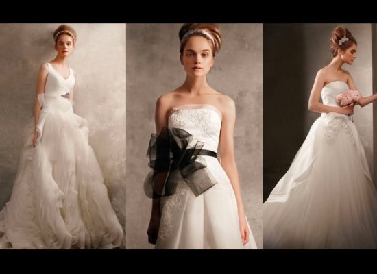 Vera wang unveils affordable collection for david 39 s bridal for Affordable vera wang wedding dresses