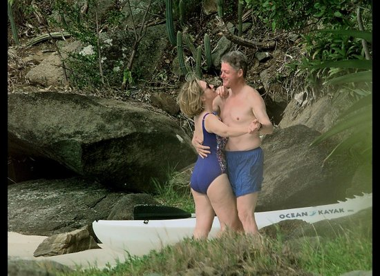 Bill and Hillary Clinton…Dancing on the Beach