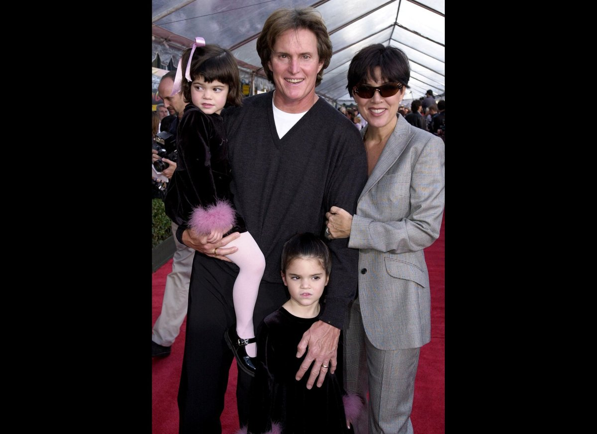 Kris Jenner with Caitlyn(then-Bruce) Jenner with their two daughters Kylie and Kendall