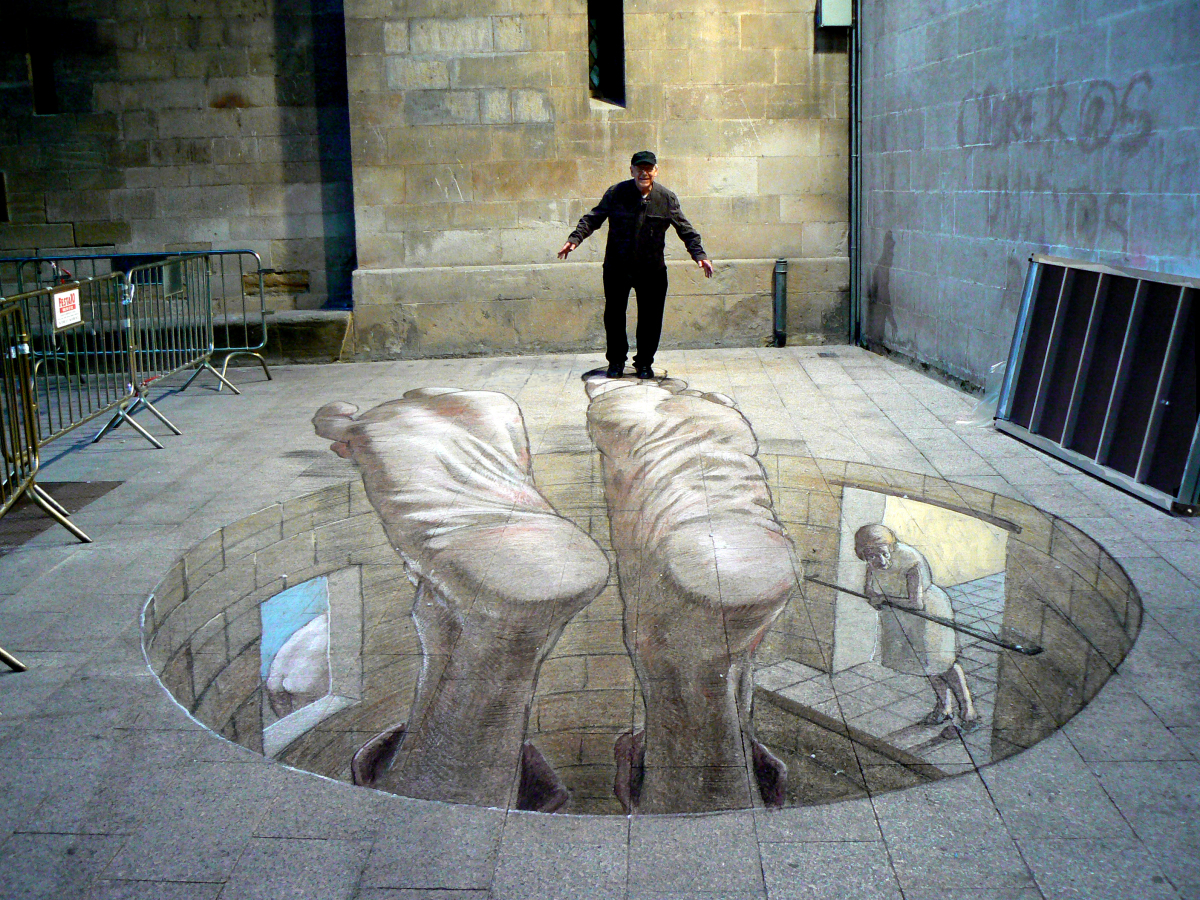 3d street art eduardo relero 39 s amazing optical illusions for 3d street painting mural art