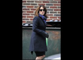Tina Fey Destroys David Letterman's Car (PHOTOS, VIDEO)