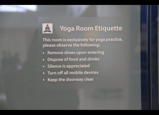 San Fran Airport Yoga Room