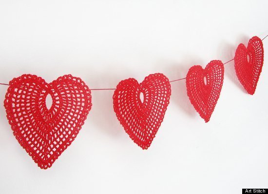 crocheted hearts by ArtStitch