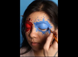 Super Bowl 2012 Makeup How To New York Giants And New