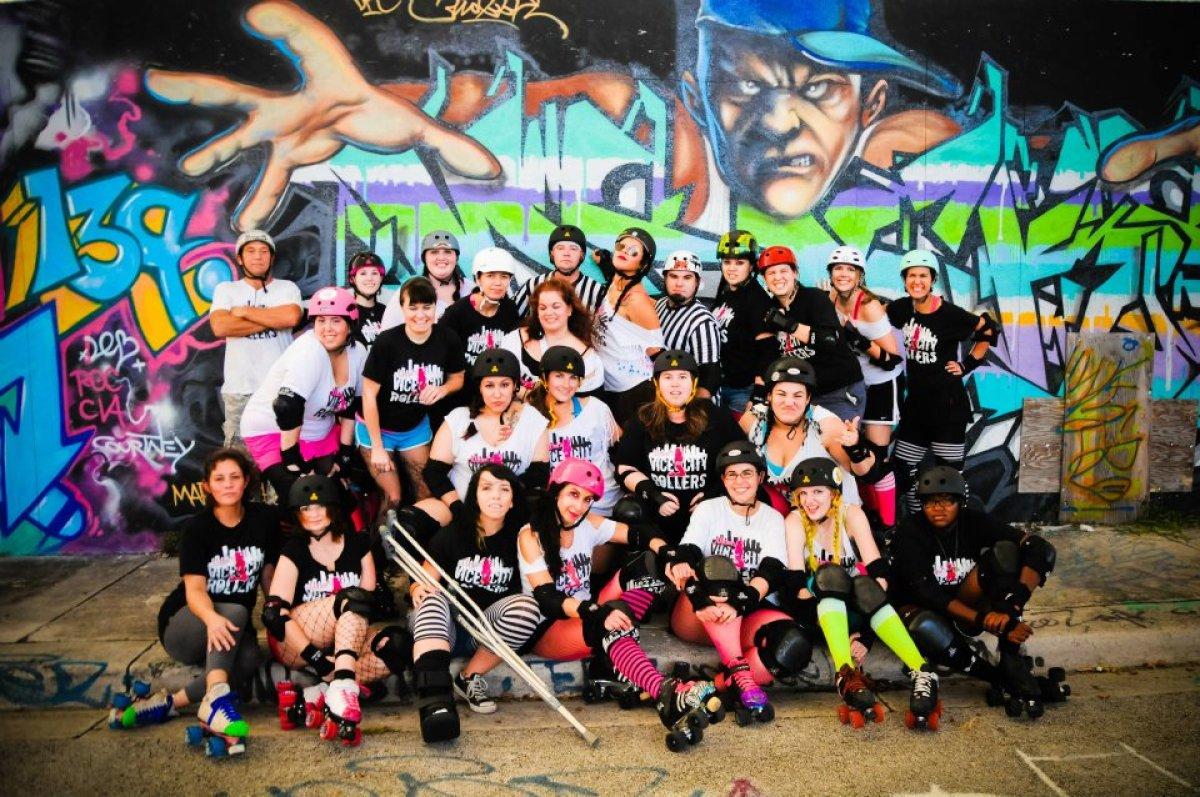 Riot City Rollers Miami Vice City Rollers