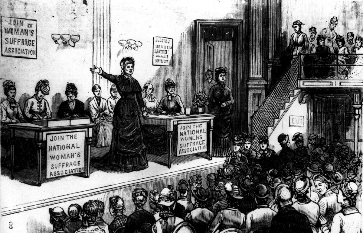 A history of woman suffrage movement and right of women to vote