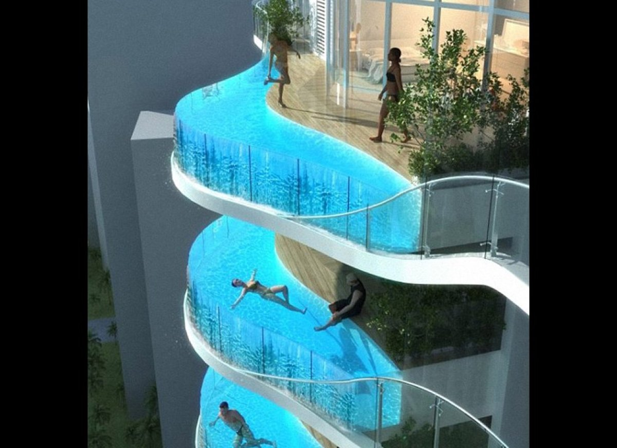 Aquaria Grande The Mumbai Apartment Complex With Swimming Pool Balconies Photos Huffpost