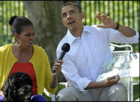 White House Easter Egg Roll Book-Reading Shows Off Obama's 'Wild' Side