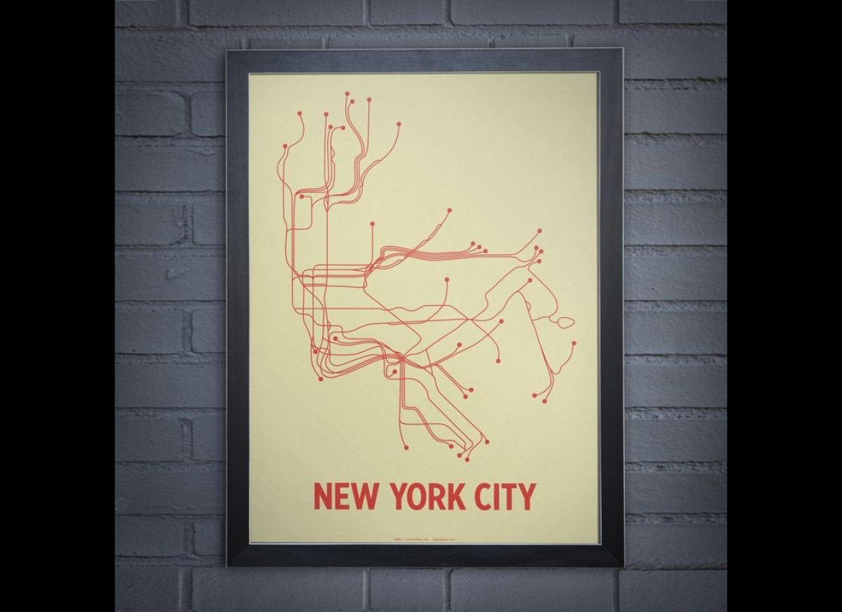 Lineposters Subway Maps Of Cities Around The World PHOTOS - Nyc map art