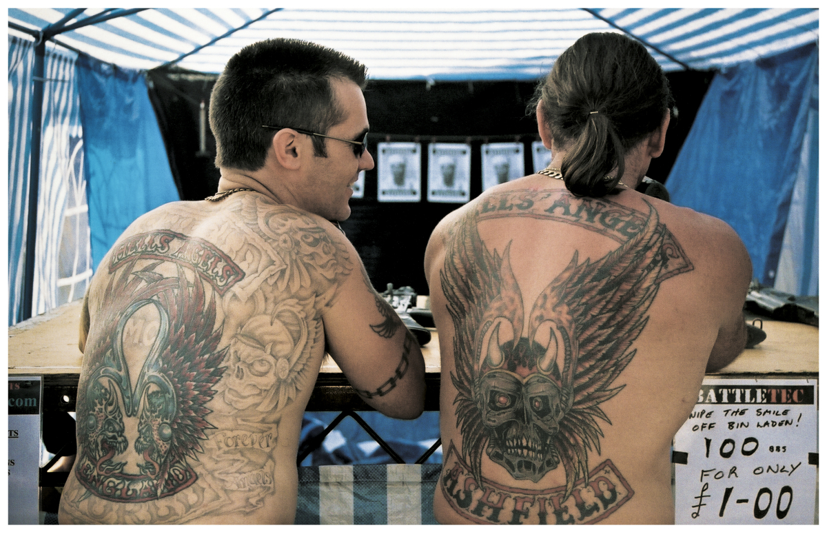 Hells angels back tattoos andrew shaylor outlaw tattoo for Hells angels tattoos pics