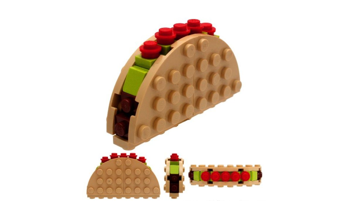 Lego Sculptures Of Tacos Donuts Chick Fil A And In N Out