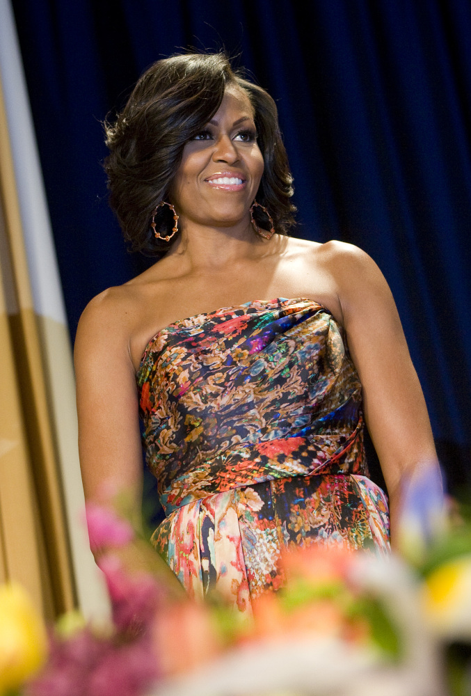 Michelle Obama in Naeem Khan