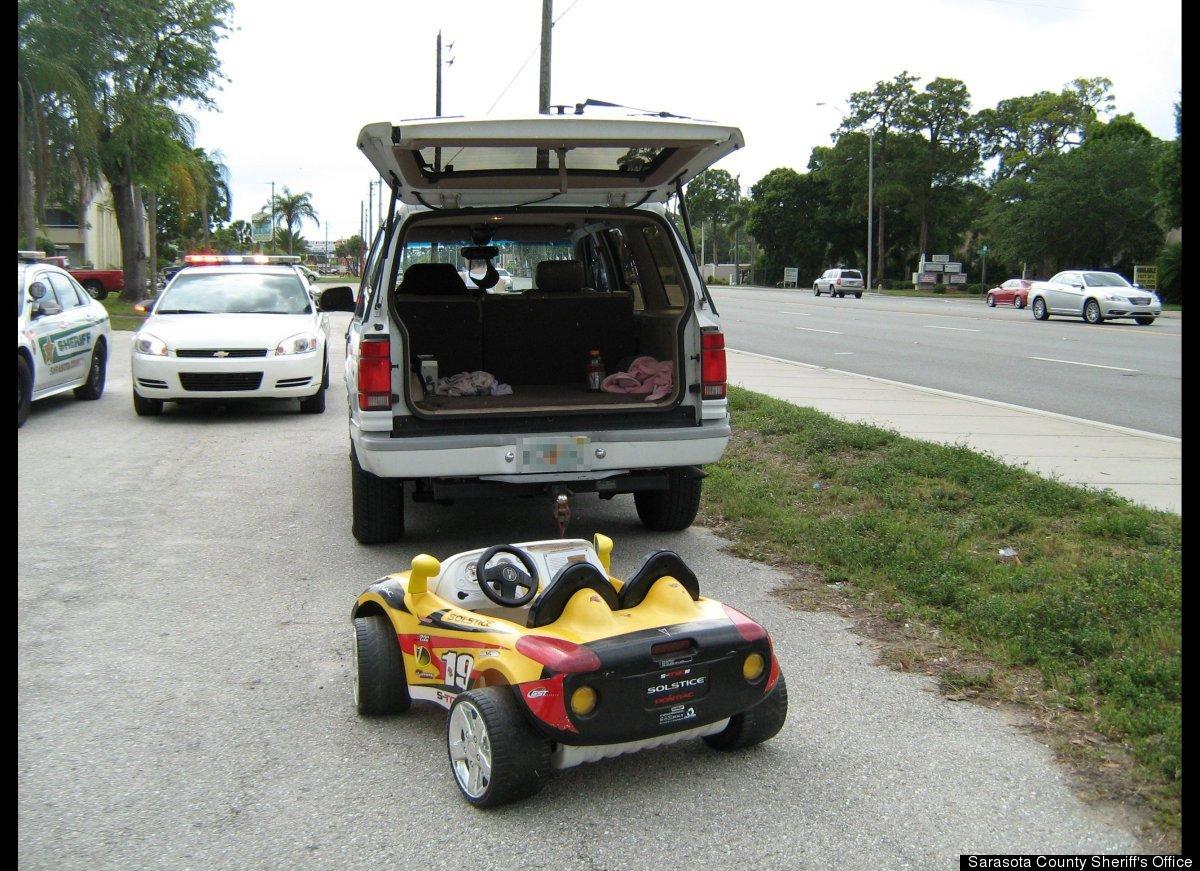 Toy Car Behind Vehicle