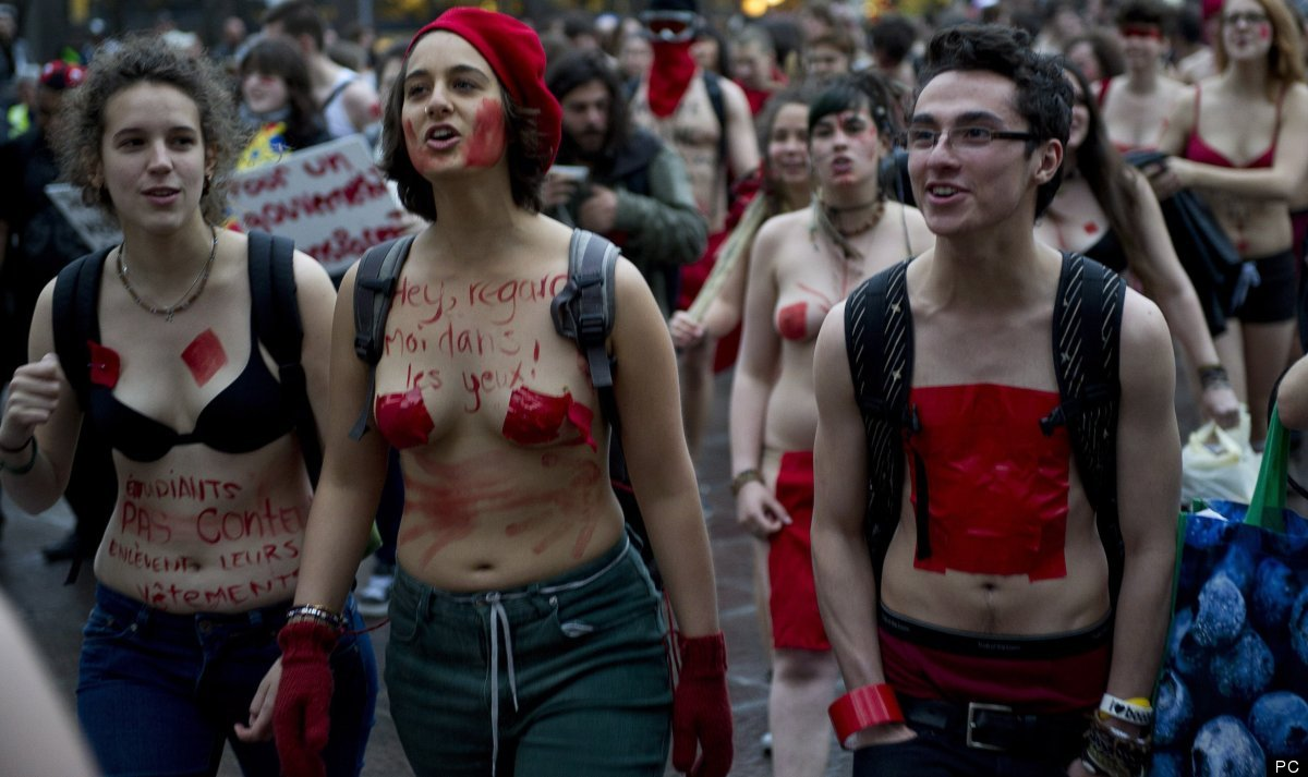 Quebec Underwear Protest May 3
