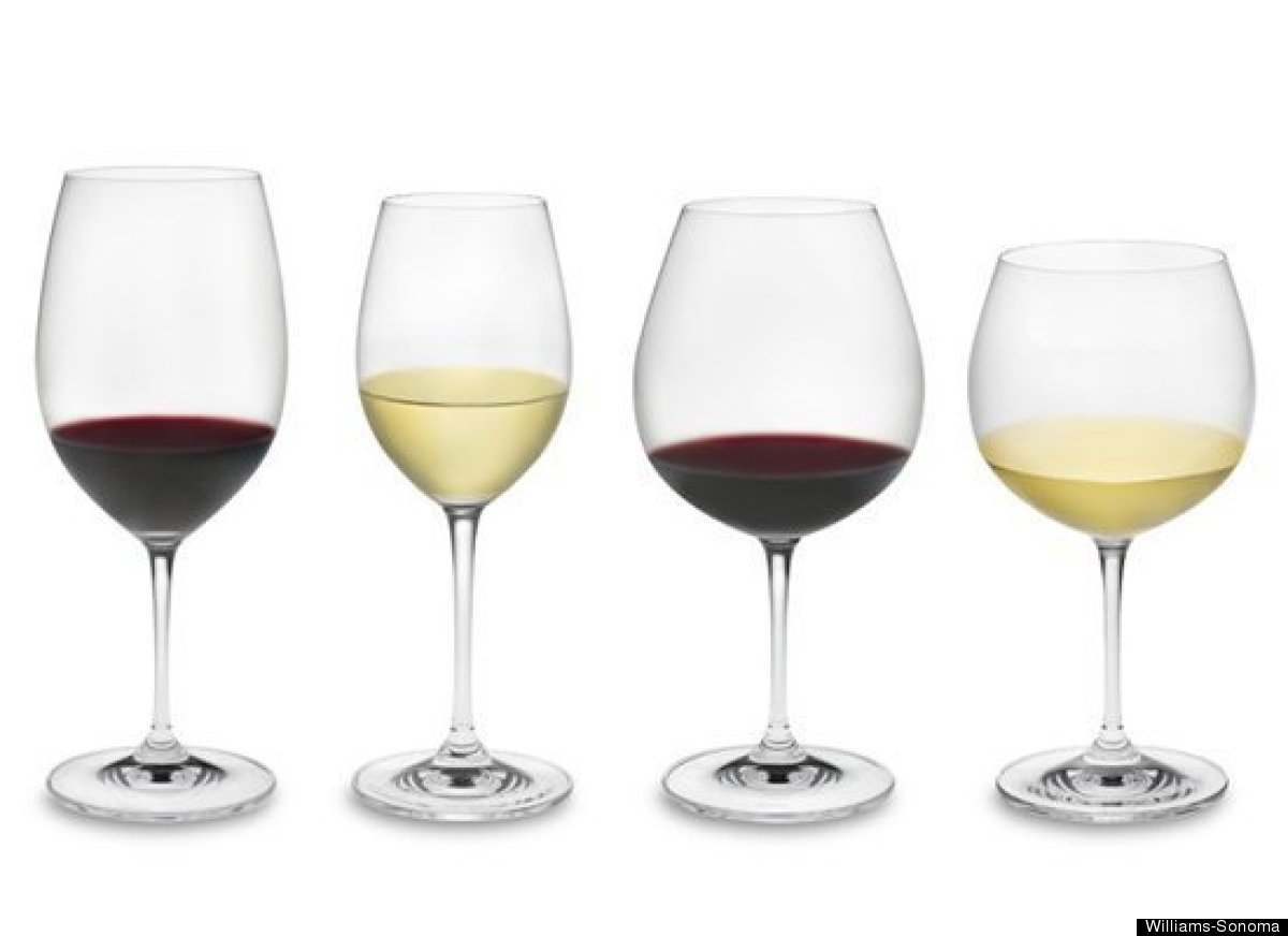 Types Of Drinking Glasses Behind The Glassware For Wines