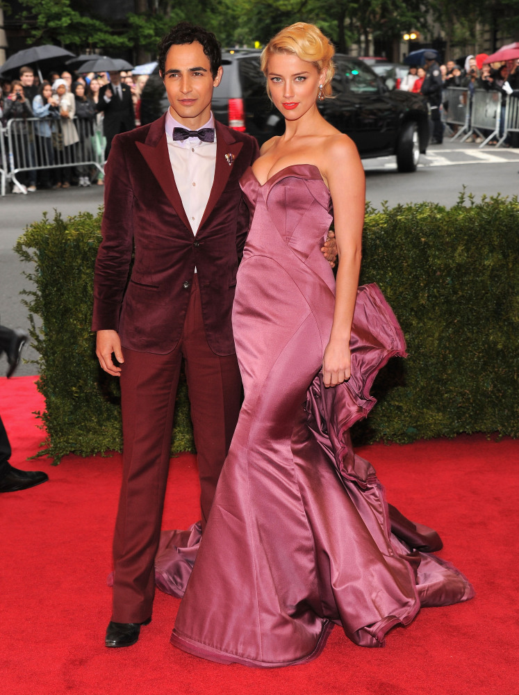 Zac Posen and Amber Heard in Zac Posen