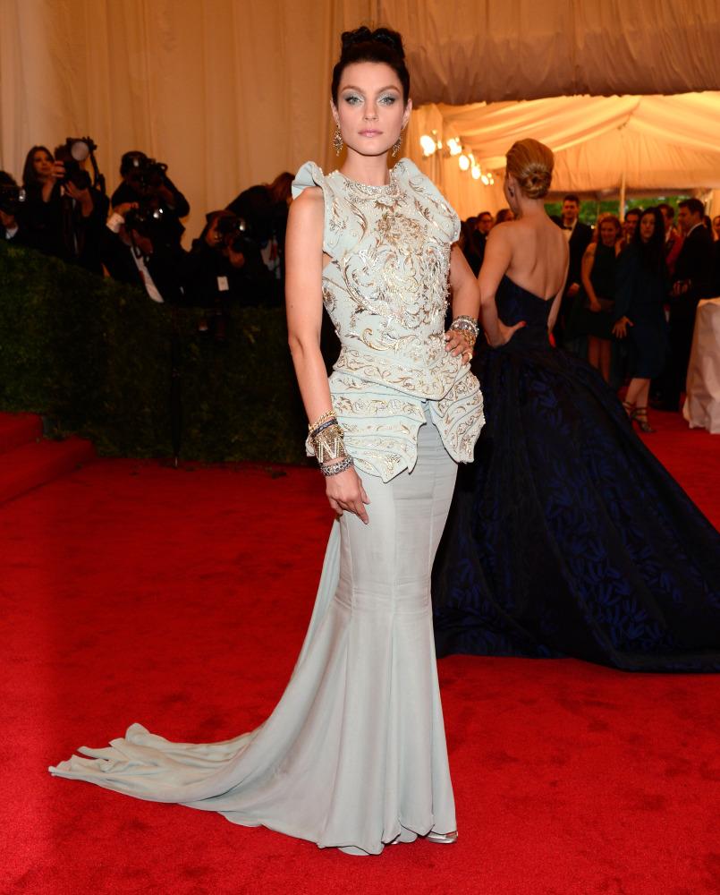 Jessica Stam in Dior