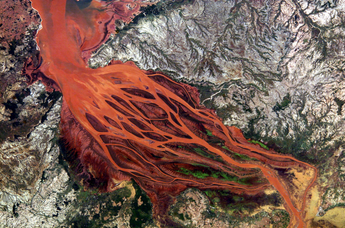 Rivers seen from space satellite images pictures for Soil erosion in hindi