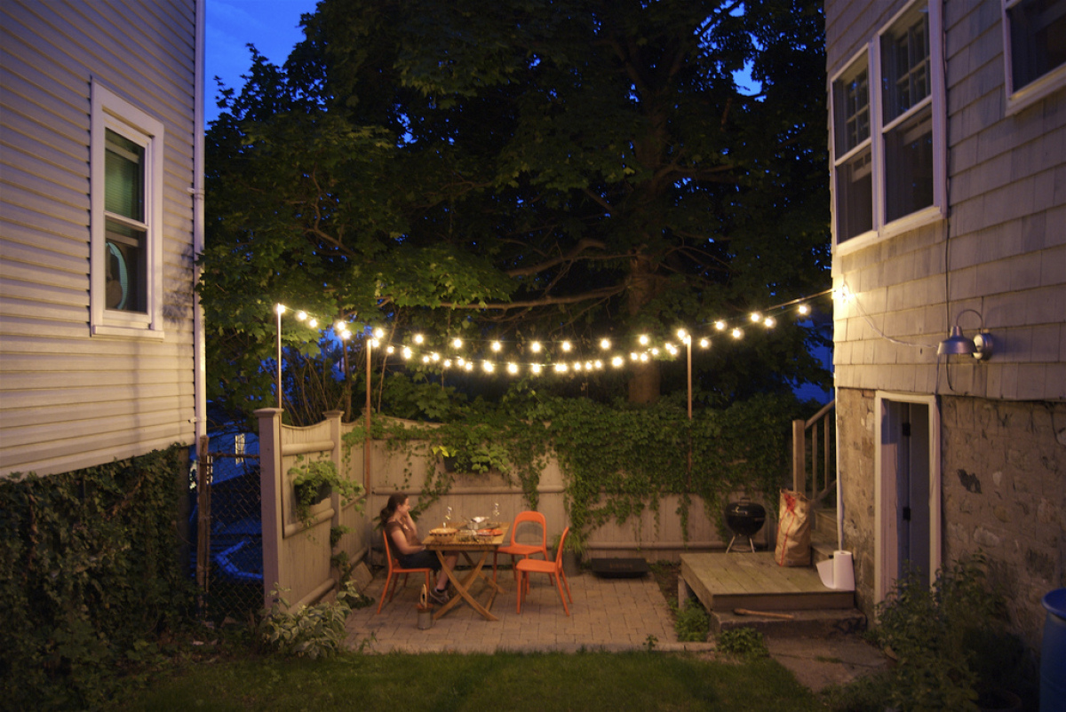 3 easy outdoor lighting ideas | huffpost - Outdoor Lighting Patio Ideas