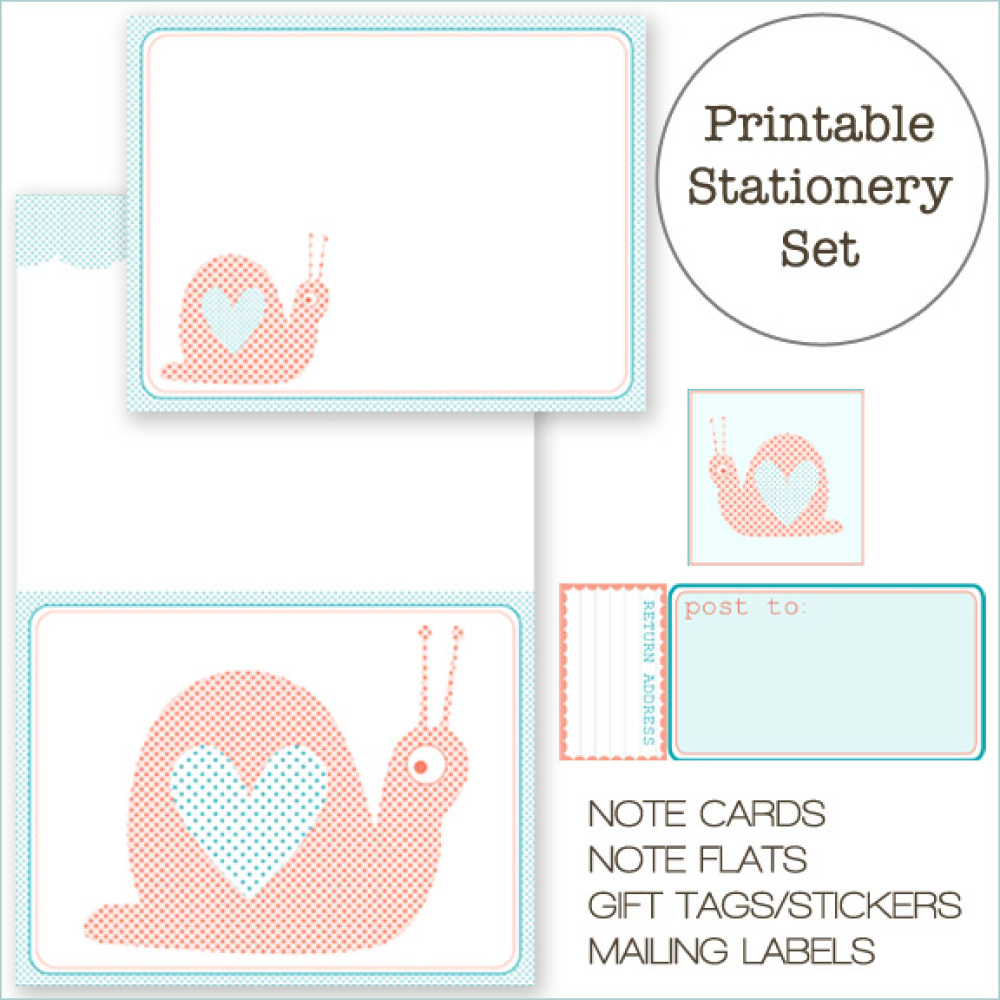 10 Free Printable Cards And Stationery Sets That Rival Anything You'd ...