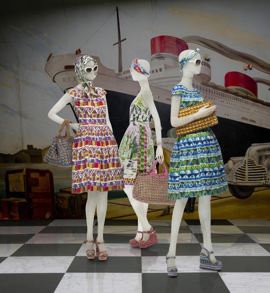 Prada's vintage prints