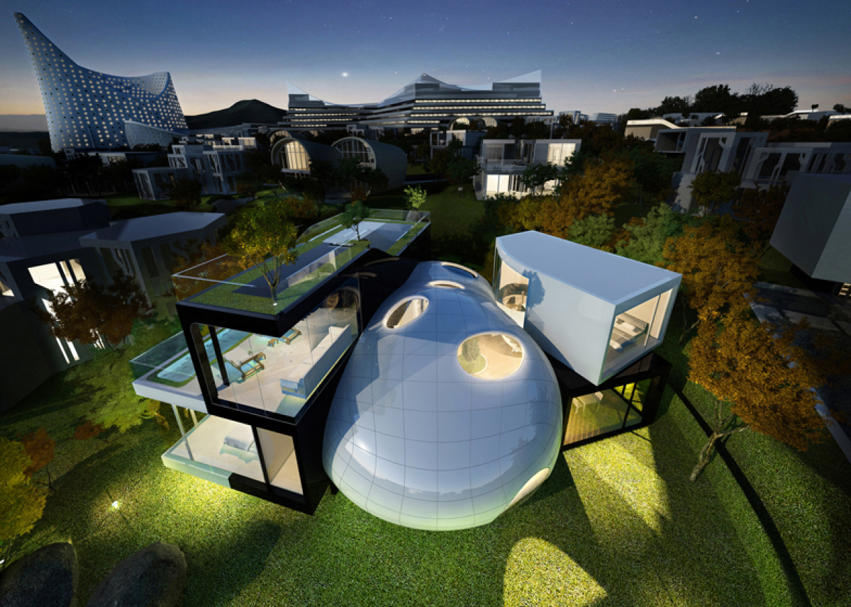 39 cocoon house 39 features organic eco friendly design for Eco friendly house design features