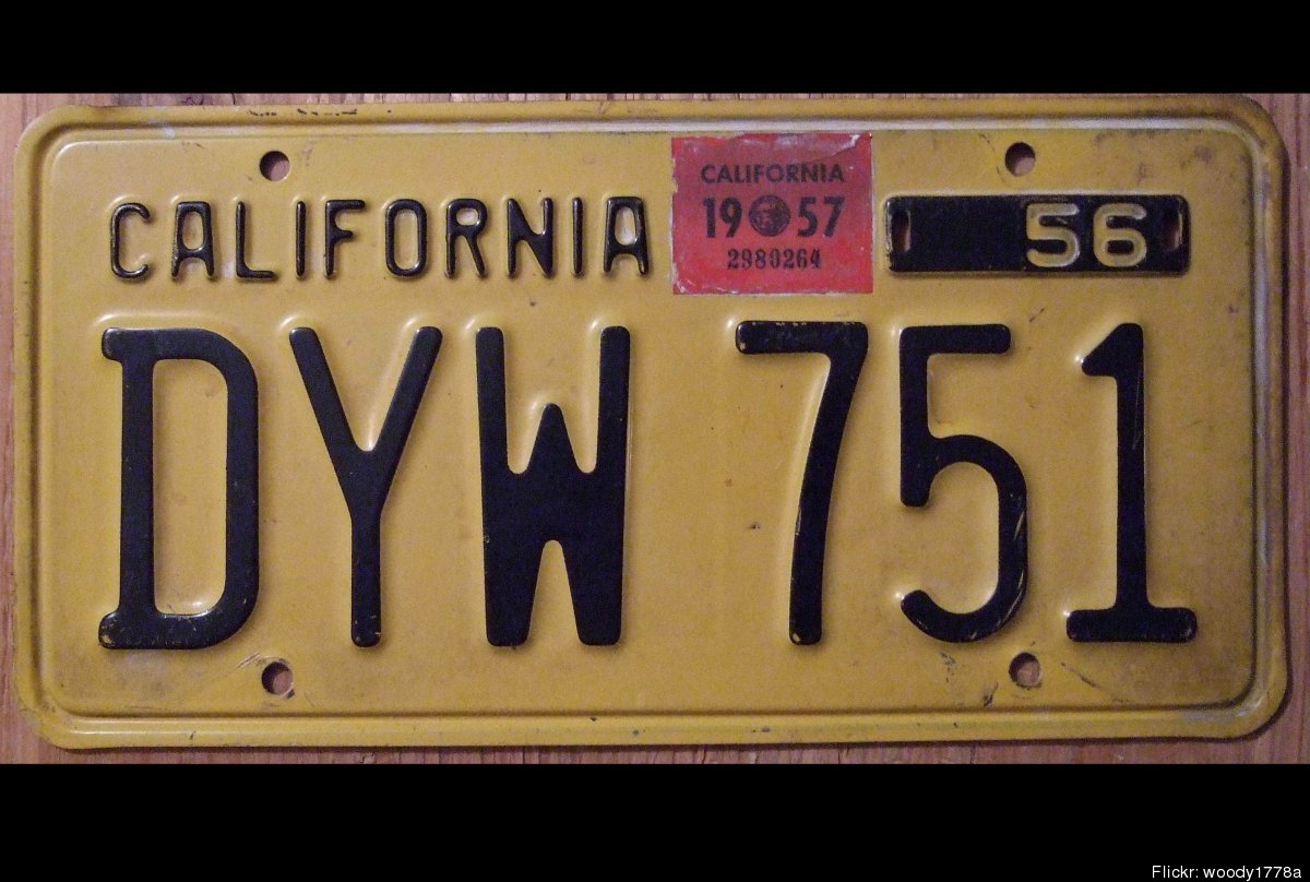 california 39 s vintage license plates reissued new bill considers state 39 s colorful past photos. Black Bedroom Furniture Sets. Home Design Ideas