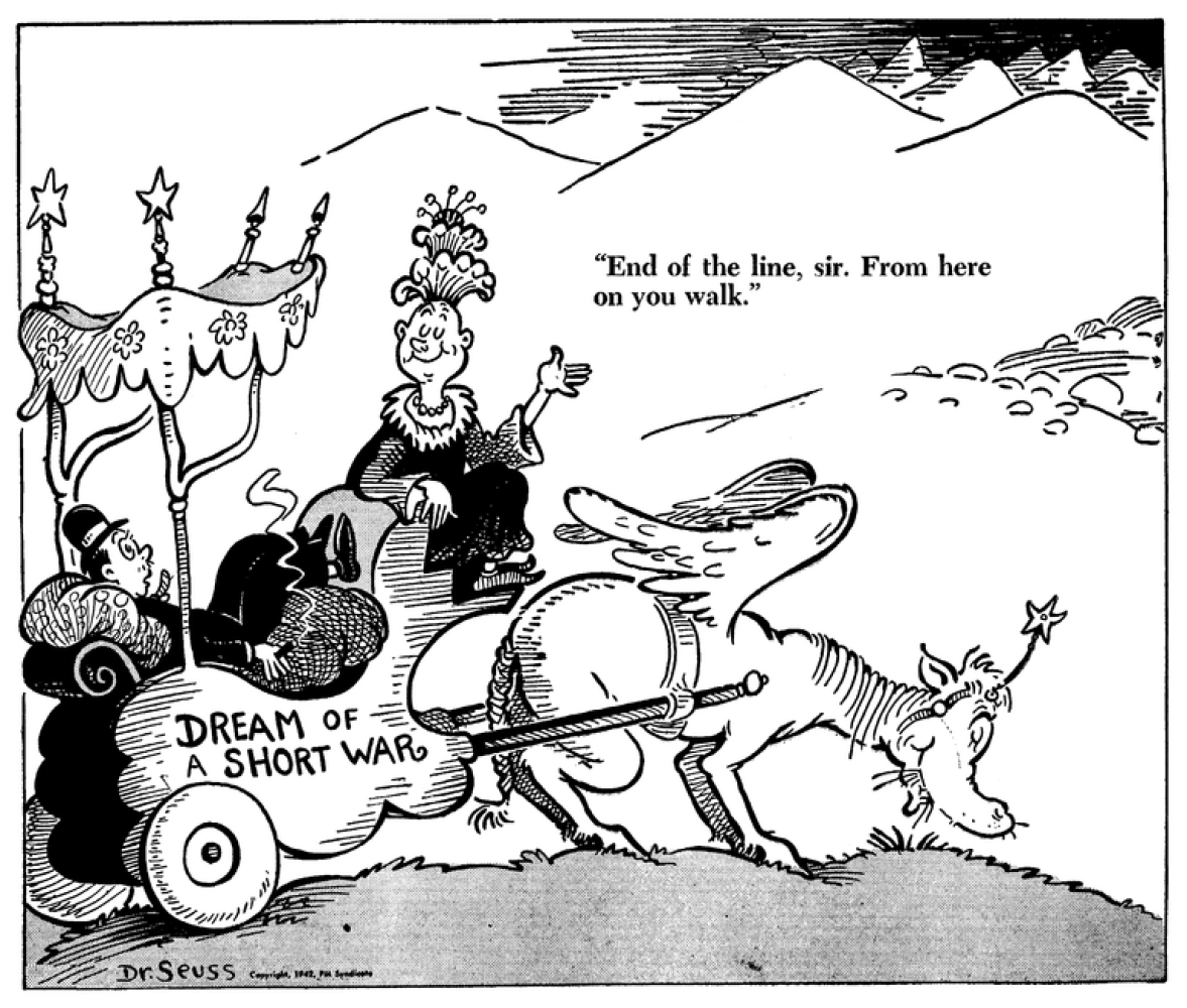 political cartoons from wwii Seuss drew political cartoons for pm newspaper during world war ii, expressing his liberal views in an uncensored medium students will analyze some of these cartoons on the political dr.