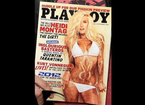 heidi montag playboy. A muddied up Heidi Montag