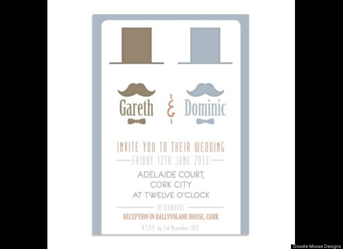 Wedding Invites The Cutest SameSex Invites PHOTOS HuffPost
