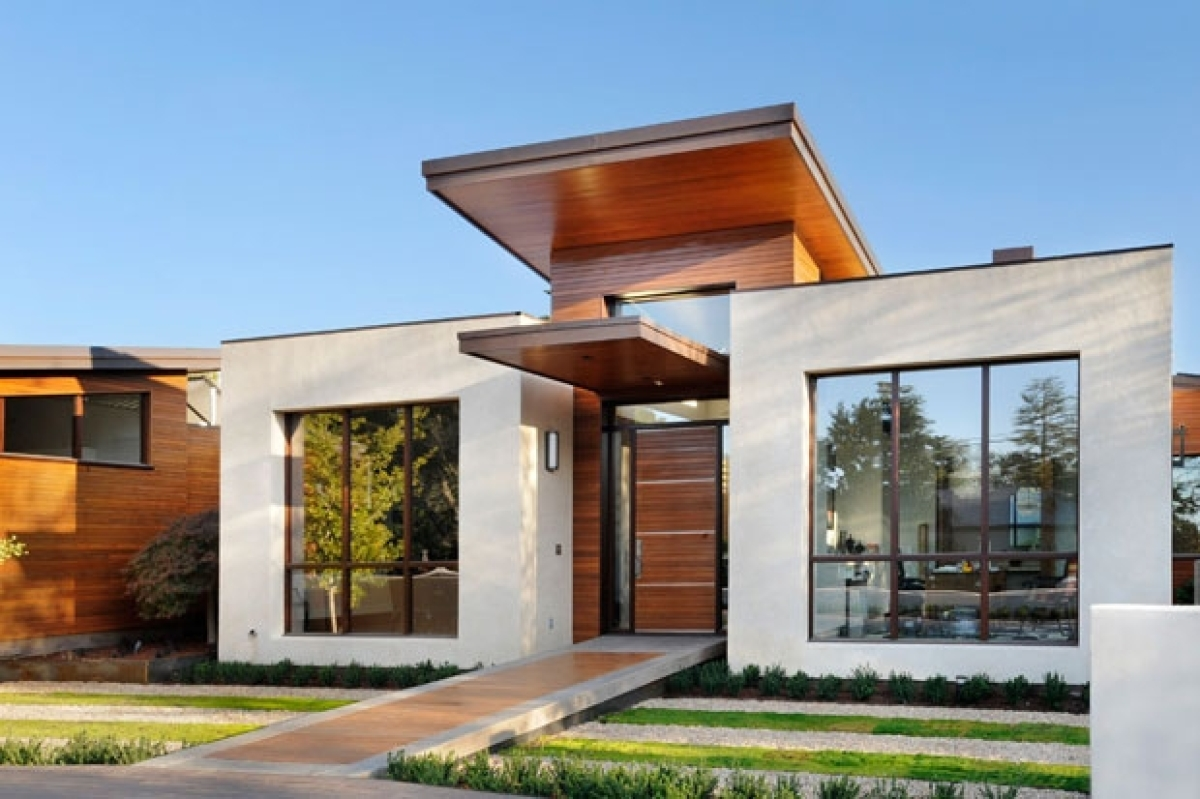 Inside a california home by trg architects that 39 s one part for Modern exterior house entrance