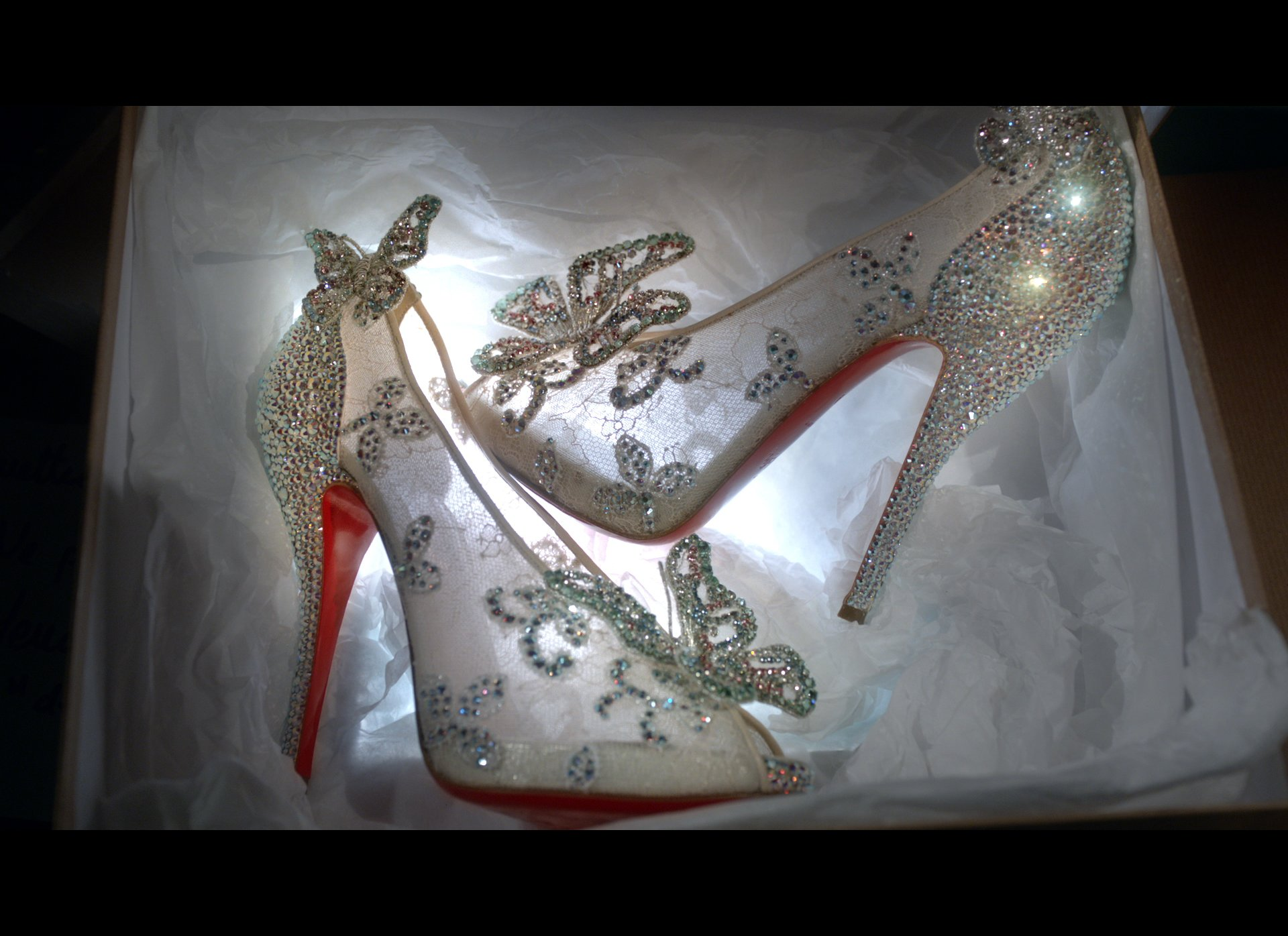 first look louboutins real life cinderella shoes