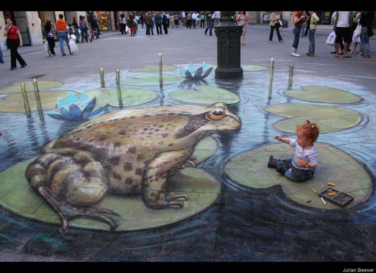 Street Artist Julian Beever Creates 3D Chalk Illusions ...