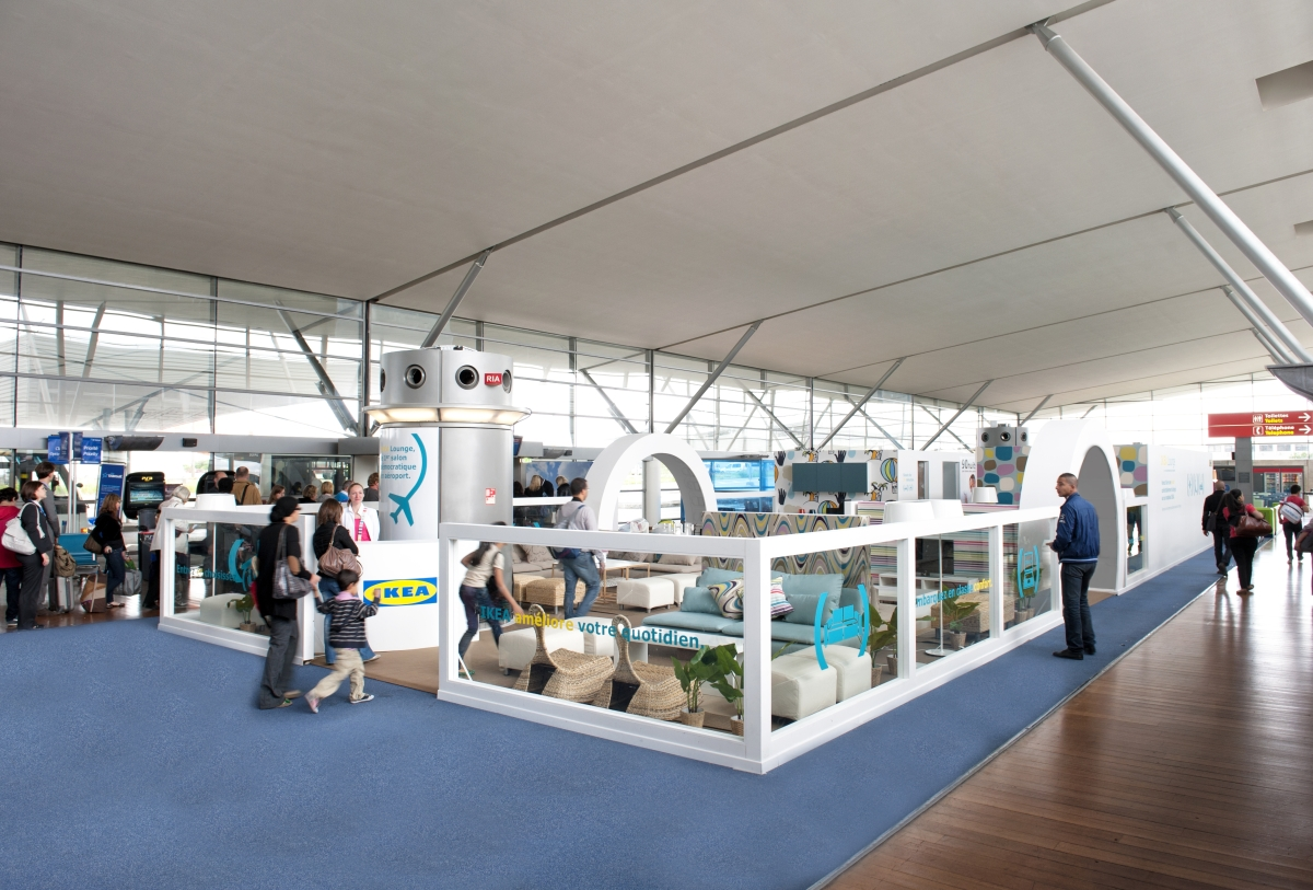 Ikea paris airport swedish chain opens pop up lounge in for Ikea parati