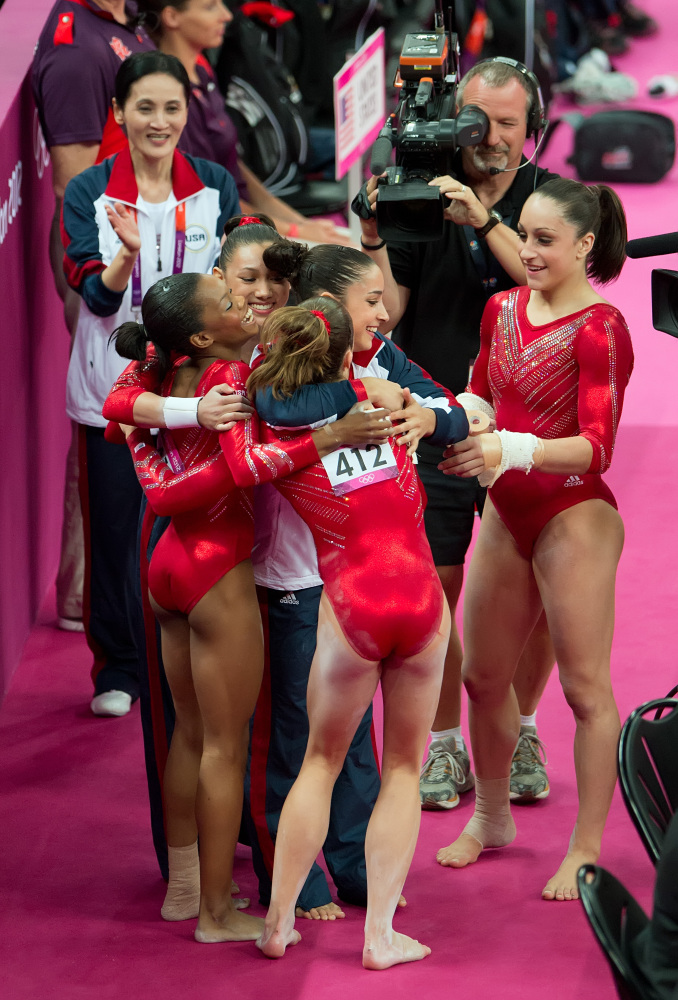Awesome Why The Us Women39S Gymnastics Team39S Hair Buns Give Us Pause Short Hairstyles Gunalazisus