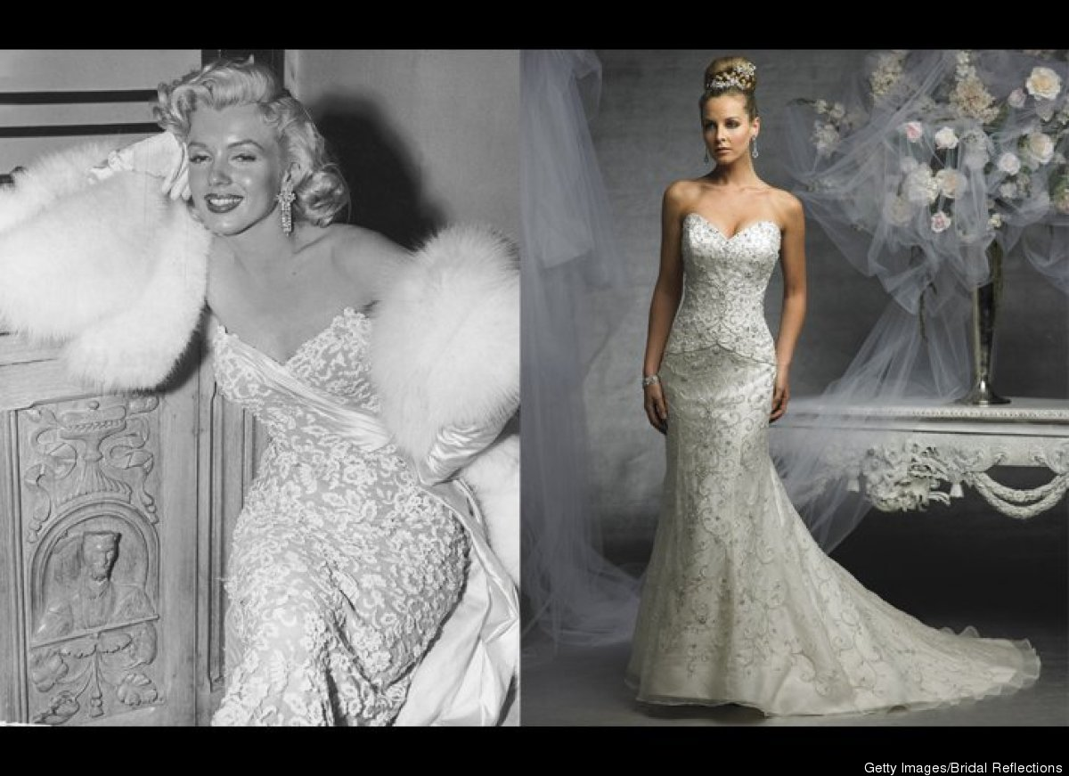 marilyn monroe dresses 5 blond bombshell inspired wedding
