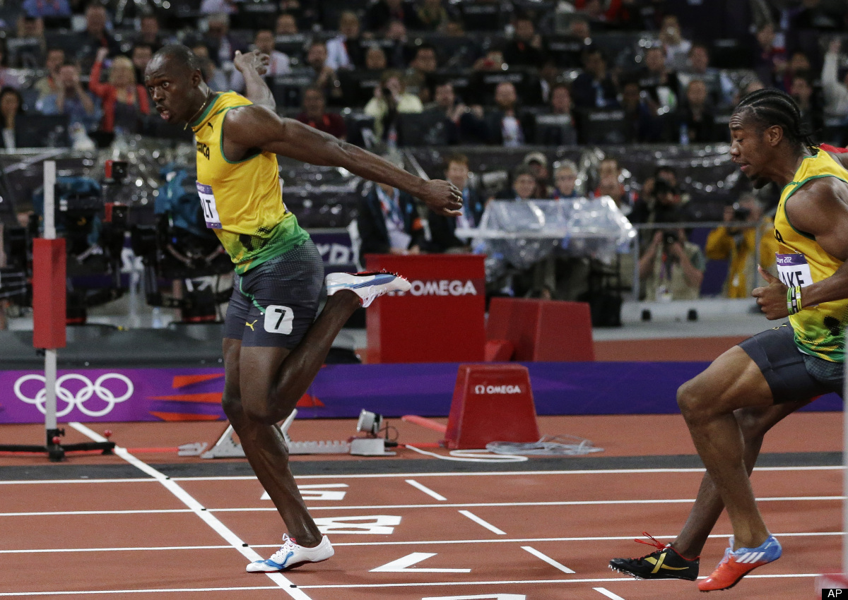 In 100 meters setting olympic record at london games atac magazine