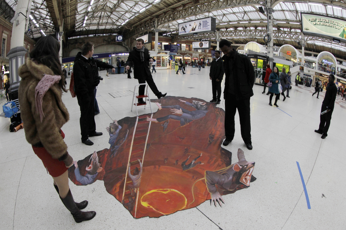 3D Street Art: 13 Amazing Optical Illusions Created By Chalk ...