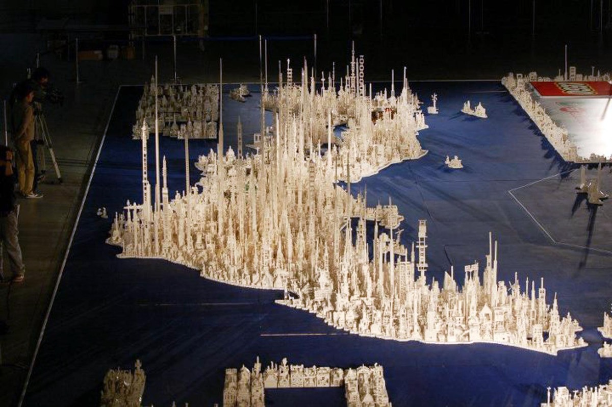 Kids Create Futuristic Map Of Japan Using  Million LEGO - World map us and japan
