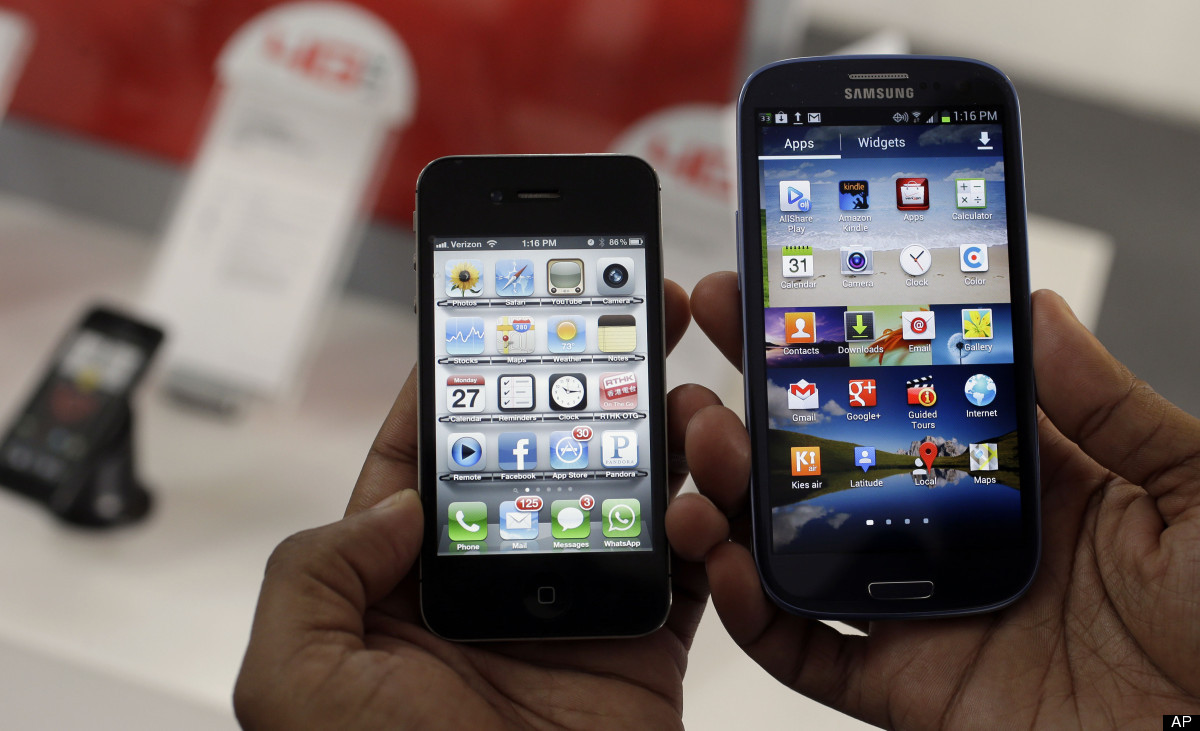 Images Apple Seeks U.S. Sales Ban On Samsung, $707 Million More In Damages | HuffPost 1 apple samsung