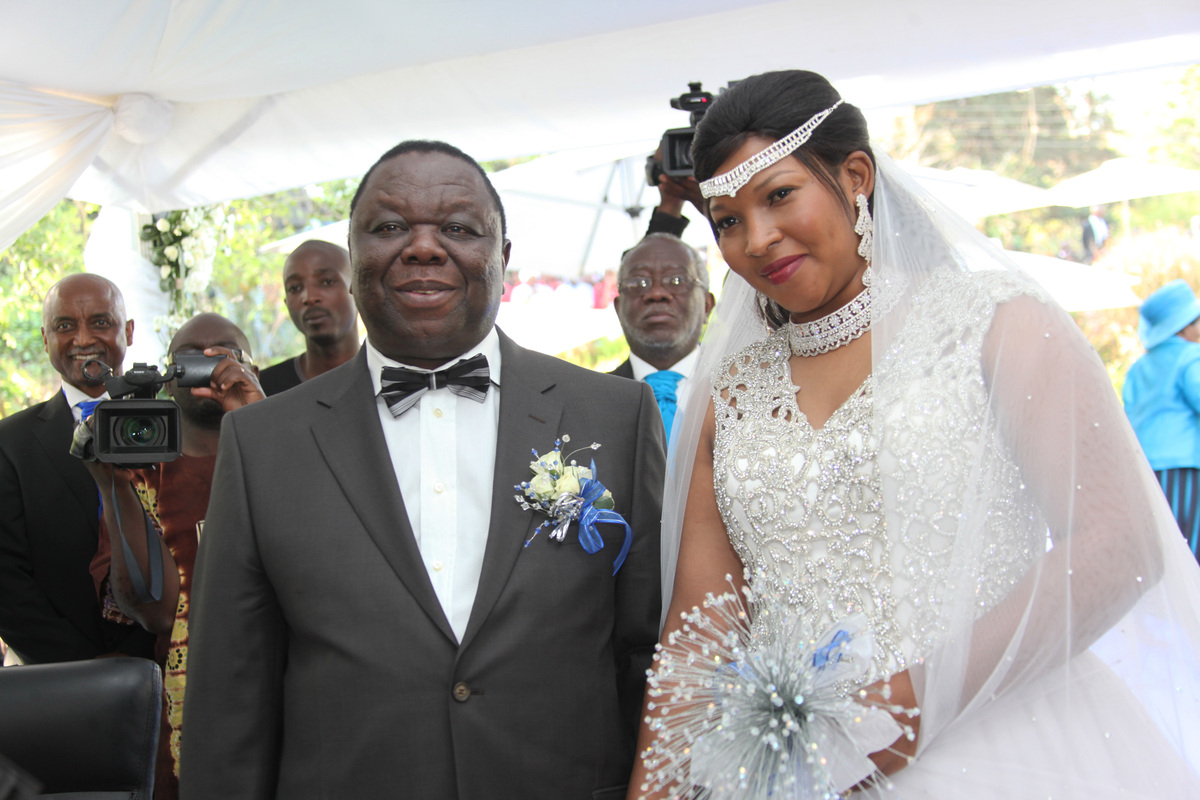 Morgan Tsvangirai Zimbabwe Prime Minister Marries Under
