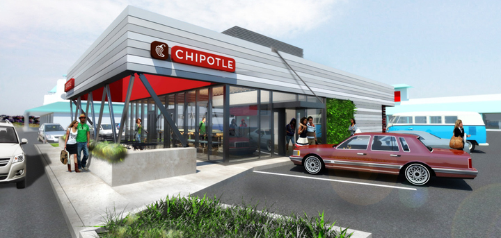Chipotle design influence palpable in revamped taco bell for Franchise ad garage