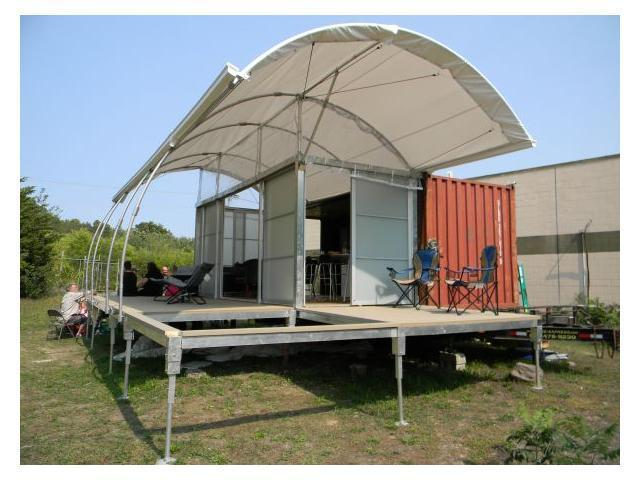 Sacred spaces seane corn 39 s portable yurt video huffpost for Container house plans for sale