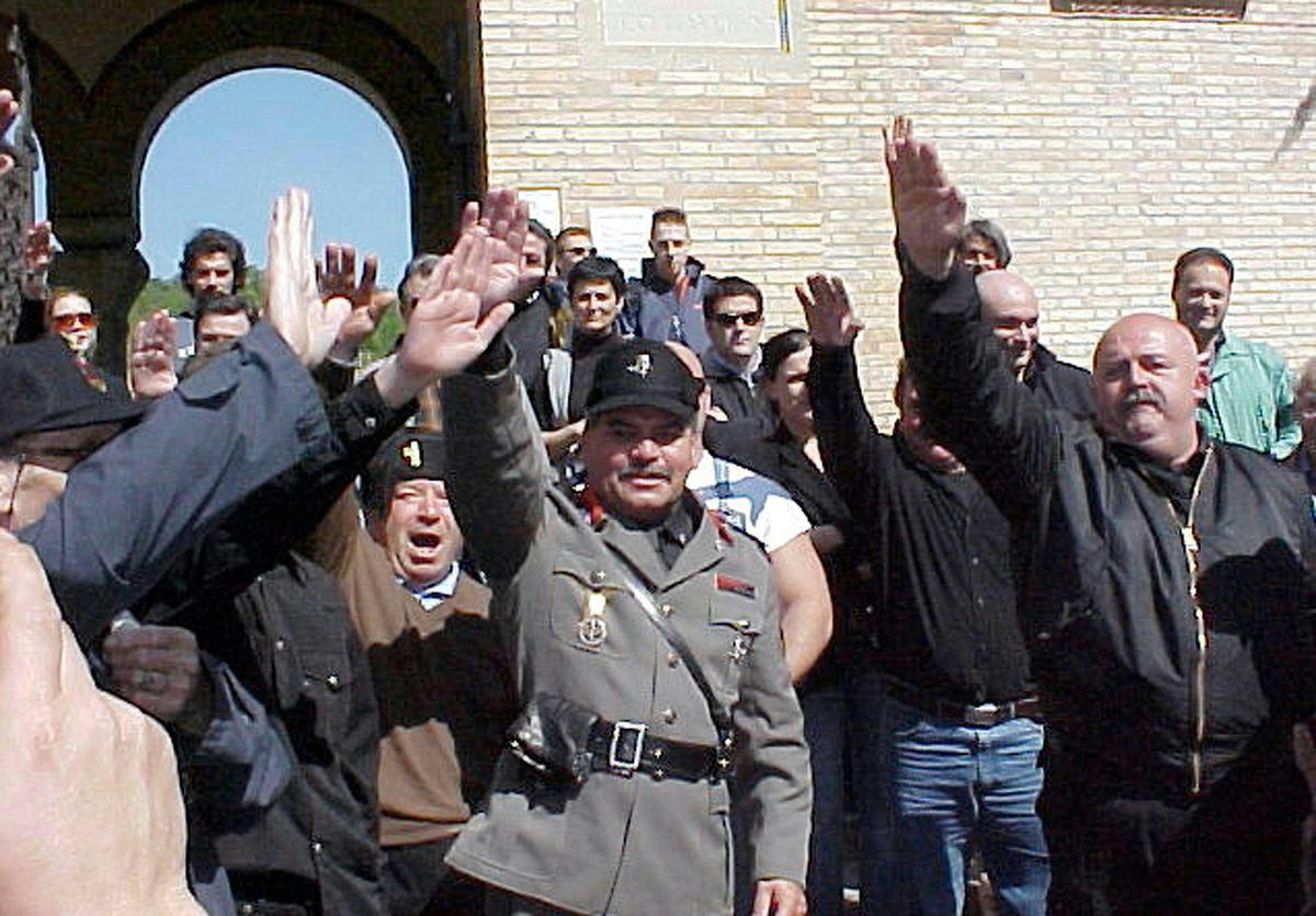 Neo Fascists In Italy Gather For 90th Anniversary Of March