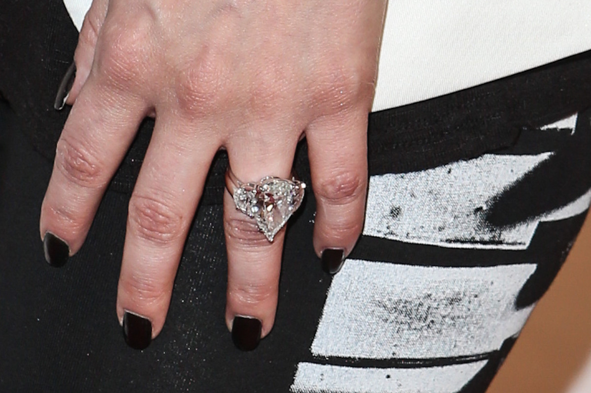 Kim Kardashians Ring From Kanye Is Smaller Than Her Last One