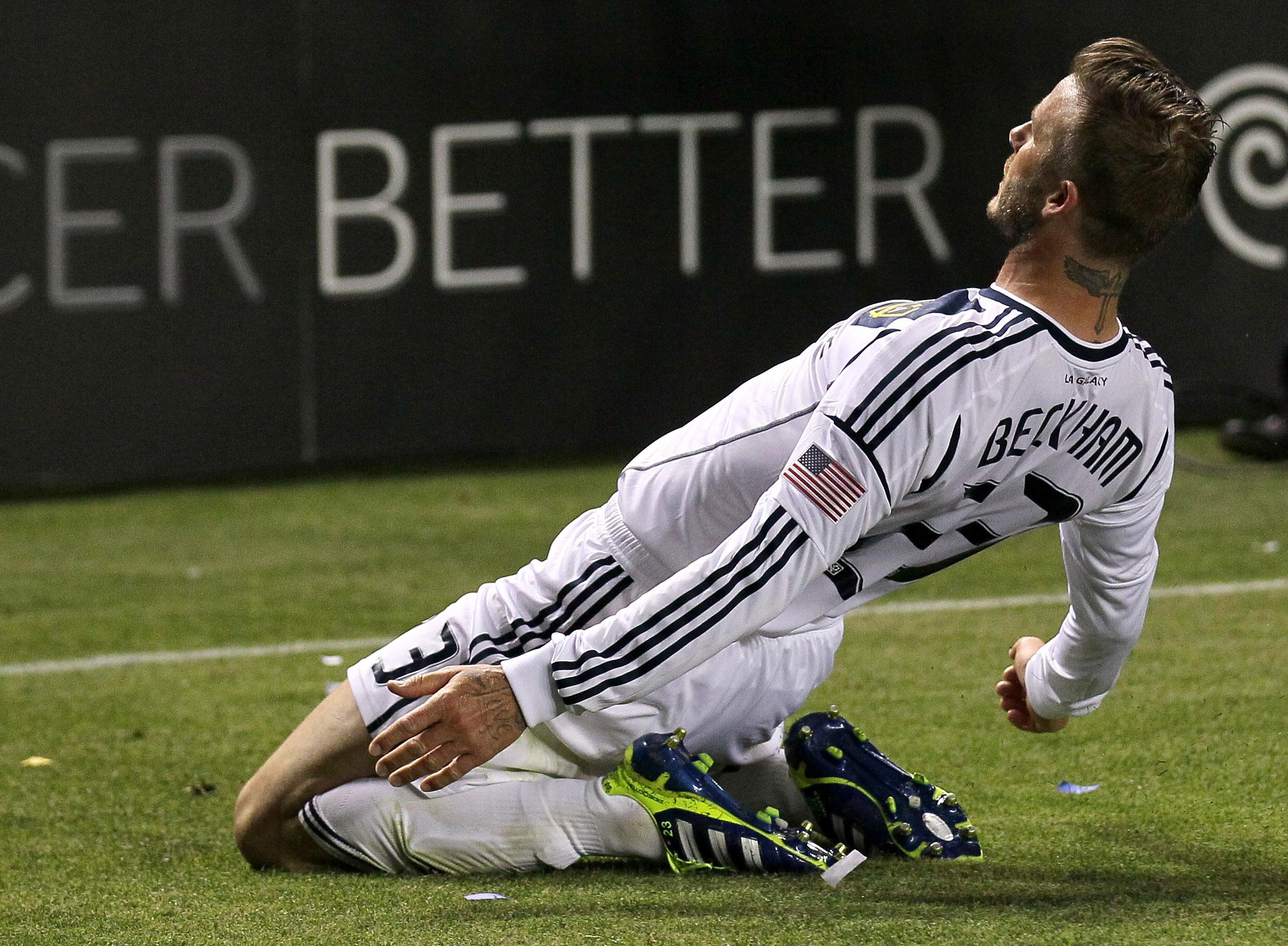 David Beckham Goal Celebration Slide Original