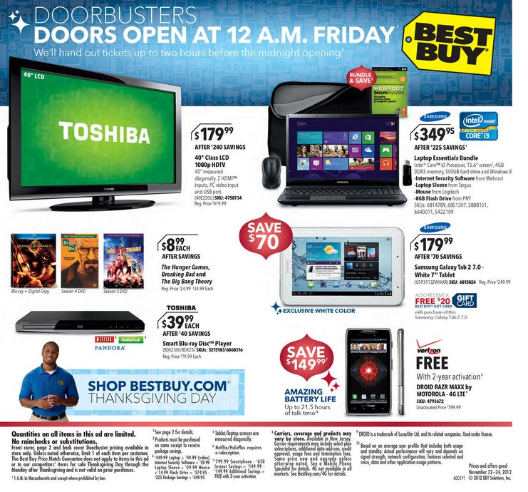 Best Buy Black Friday 2012 Deals: Your Shopping Guide