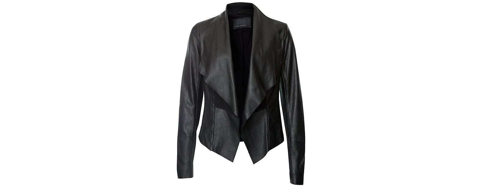 Faux Leather Waterfall Jacket - Jacket
